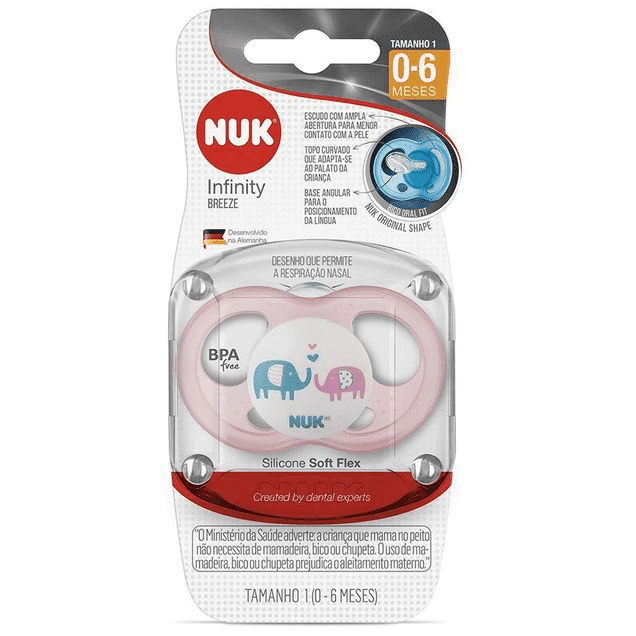 Chupeta NUK Infinity Breeze PA7321 - Elefantes