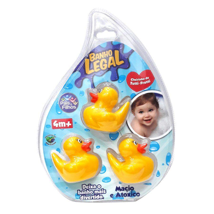 Conjunto de brinquedos para banho Pais & Filhos - Patinhos