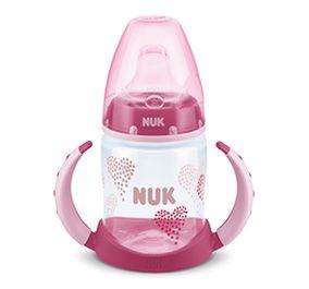 Copo antivazamento de Treinamento NUK - Corações Rosa - 150ml 6m+