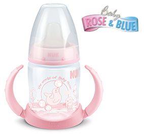 Copo antivazamento de Treinamento NUK - Rose & Blue ROSA - 150ml 6m+