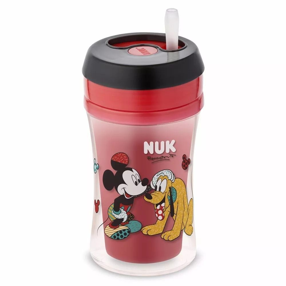 Copo antivazamento Fun Disney by Romero Britto NUK - Mickey Vemerlho - 270ml 18m+