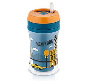 Copo antivazamento Fun Travel NUK - New York - 270ml 18m+