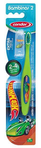 Escova dental infantil Condor Bambinos - Hot Wheels - estágio 2 (2 a 4 anos)