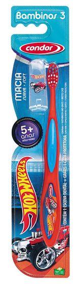 Escova dental infantil Condor Bambinos - Hot Wheels - estágio 3 (maiores de 5 anos)