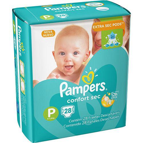 Fralda descartável infantil Pampers Confort Sec (nova)