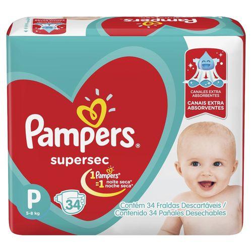 Fralda descartável infantil Pampers Super Sec (nova)