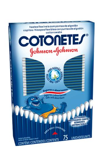 Hastes flexíveis Cotonetes Johnson's com 75 unidades