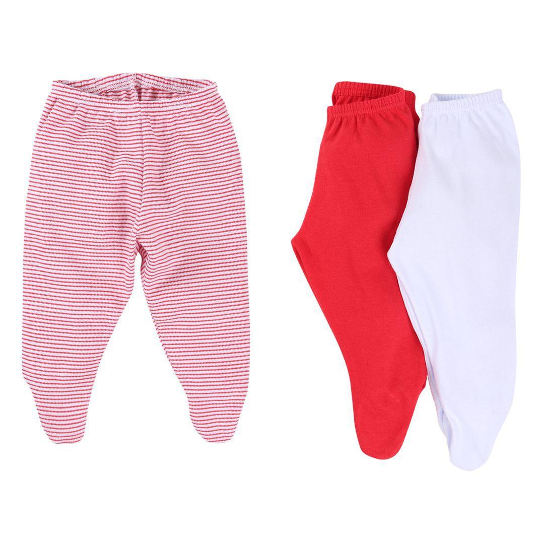 Kit com 3 calças infantis tipo mijão (culote) em suedine com pé reversível Best Club - menina