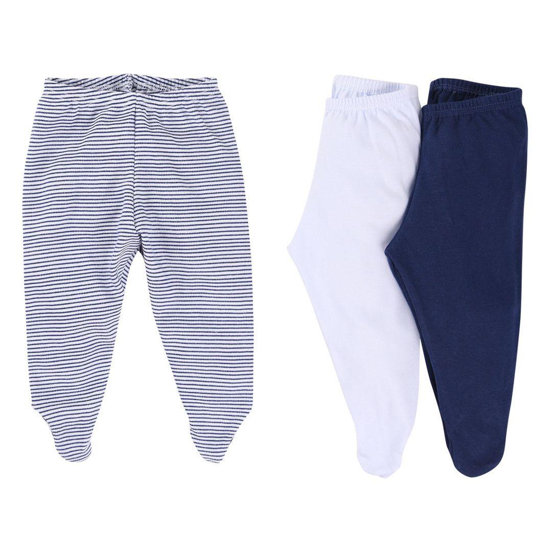 Kit com 3 calças infantis tipo mijão (culote) em suedine com pé reversível Best Club - menino