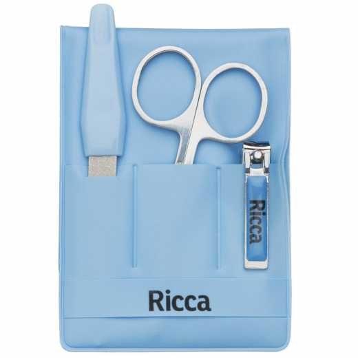 Kit manicure infantil em aço inox Ricca Baby Belliz Company