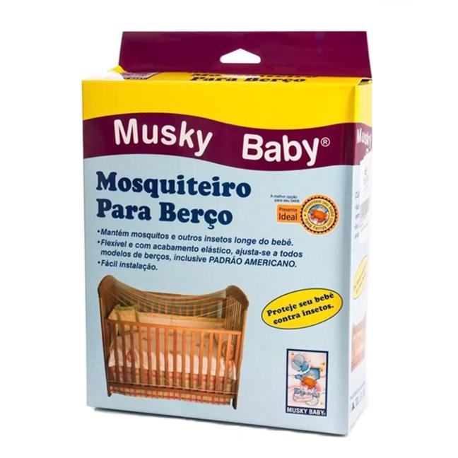 Mosquiteiro com elástico para berço Musky Baby