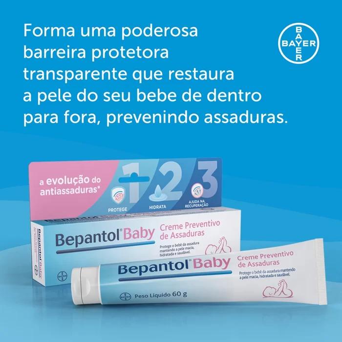 Pomada creme para prevenção de assaduras Bepantol® Baby - 60g