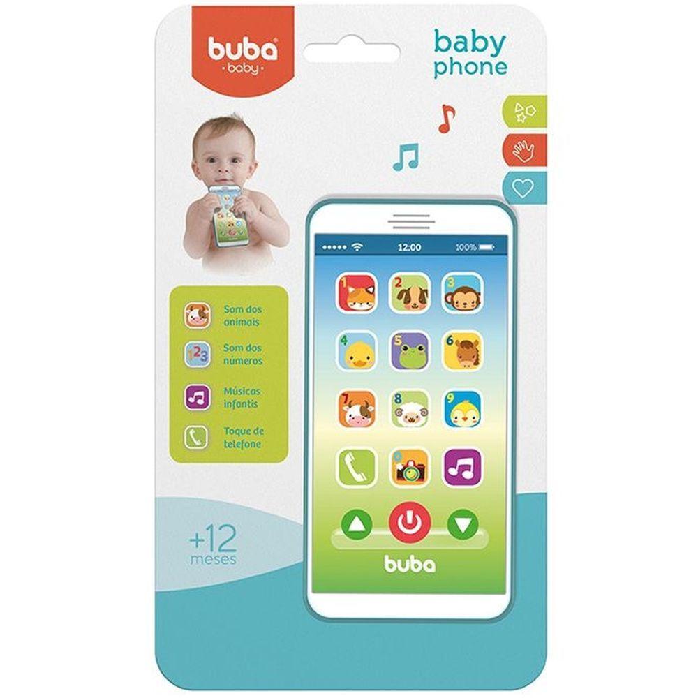 Telefone celular educativo infantil com efeitos sonoros Baby Phone da Buba