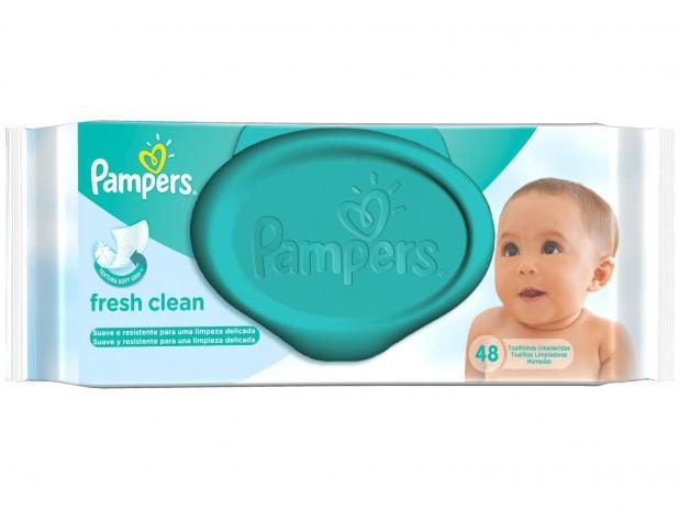 Toalhinhas Umedecidas Hipoalergênicas Pampers Fresh Clean - pack com 48 lenços
