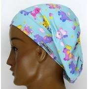 TF048 -Touca de Malha Poliamida Feminina Estampa Poney para Cirurgias, Padarias, Enfermagens. Cozinha, oncologia, etc