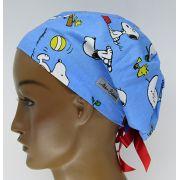 TF674 - Touca Estampa Snoopy Fundo Azul