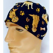 TM126 - Gorro estampa Dogs fundo preto