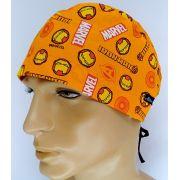 TM131 - Gorro estampa Marvel fundo laranja