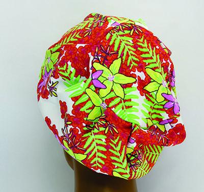 TF001 - Touca de Malha Amini floral  - Atelier Babinski