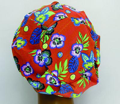 TF003 - Touca de Malha Amini floral  - Atelier Babinski