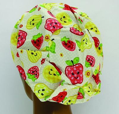 TF028 - Touca estampa Frutas  - Atelier Babinski
