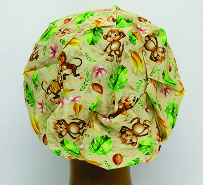 TF043 - Touca estampa macacos  - Atelier Babinski