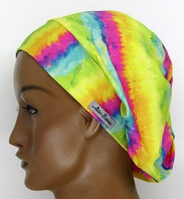 TF049 - Touca Amini Tie Dye Amarela  - Atelier Babinski