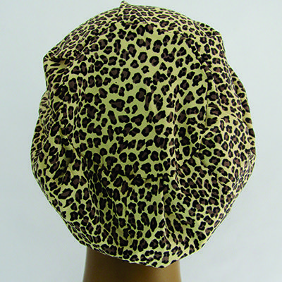 TF227 - Touca de malha estampa Oncinha  - Atelier Babinski