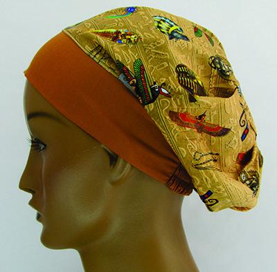 TF376 - Touca estampa Egito  - Atelier Babinski