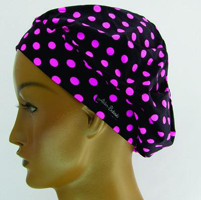 TF496 - Touca de malha estampa Poá pink  - Atelier Babinski