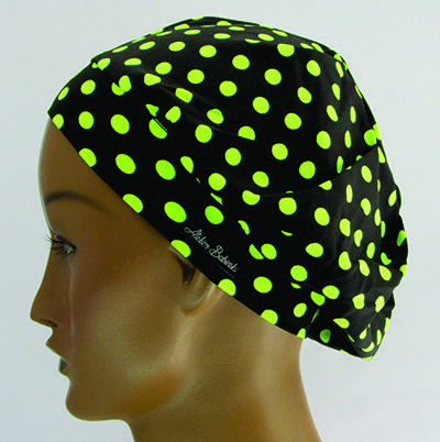 TF498 - Touca Amini Poá verde neon  - Atelier Babinski