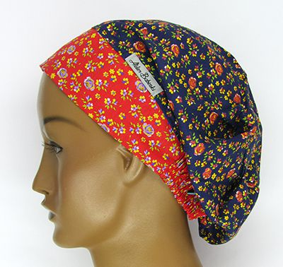 TF539 - Touca estampa Floral   - Atelier Babinski
