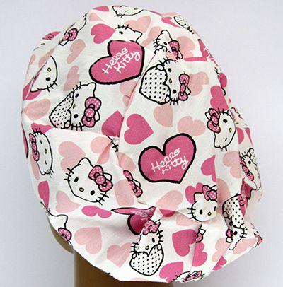 TF542 - Touca estampa Hello Kitty corações  - Atelier Babinski