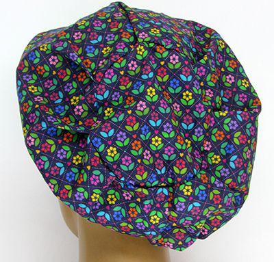 TF567 - Touca estampa Floral  - Atelier Babinski