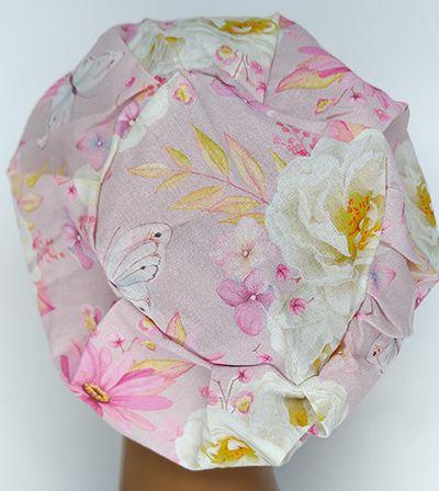 TF587 - Touca estampa Floral Delicada  - Atelier Babinski