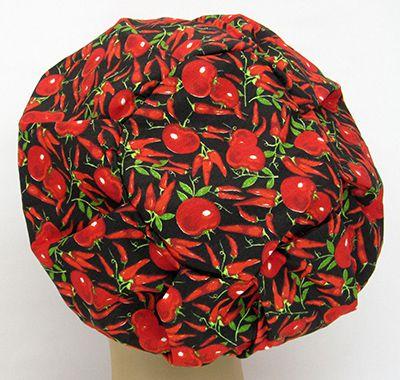 TF593 - Touca Estampa Pimentas e Tomates  - Atelier Babinski