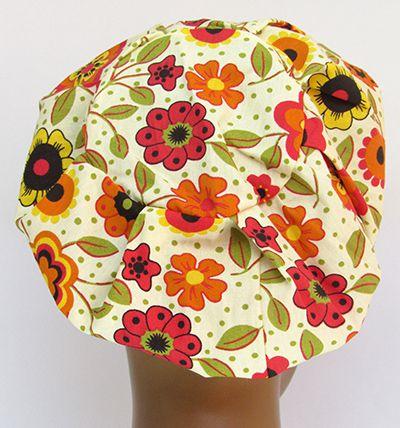 TF605 - Touca Estampa Floral  - Atelier Babinski