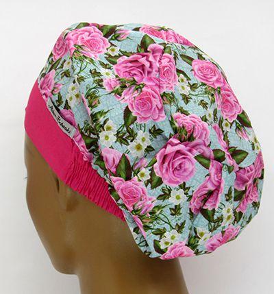 TF615 - Touca Floral Pink  - Atelier Babinski