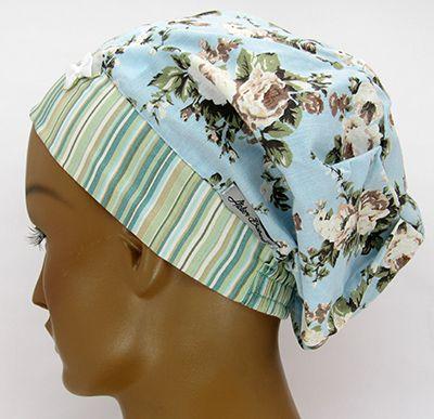 TF618 - Touca Estampa Floral   - Atelier Babinski