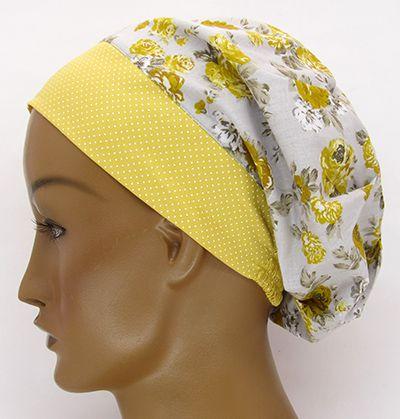 TF619 - Touca Estampa Floral Amarela  - Atelier Babinski