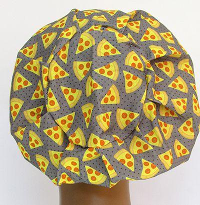 TF625 - Touca Estampa Pizzas  - Atelier Babinski