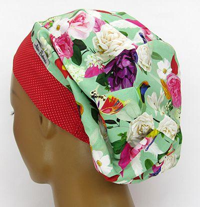 TF631 - Touca Estampa Floral  - Atelier Babinski