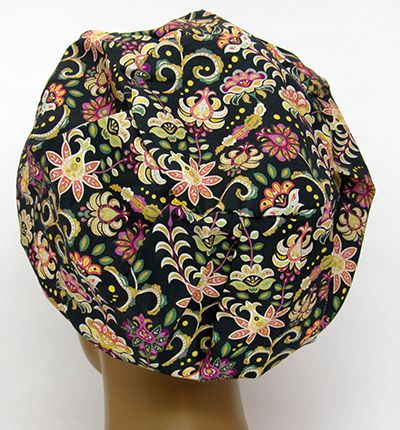 TF645 - Touca Floral e Arabescos  - Atelier Babinski
