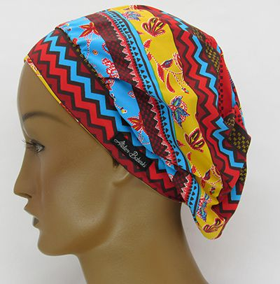 TF648 - Touca Amini Estampa Afro  - Atelier Babinski