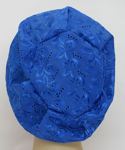 TF649 - Touca Broderi Azul Royal  - Atelier Babinski