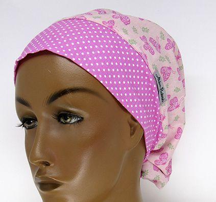 TF709 - Touca estampa Borboletas rosa  - Atelier Babinski