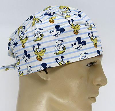 TM085 - Gorro Mickey, Pato Donald e Pluto  - Atelier Babinski