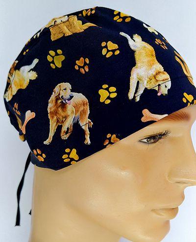 TM126 - Gorro estampa Dogs fundo preto  - Atelier Babinski