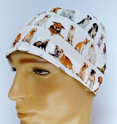 TM128 - Gorro estampa Dogs fundo crú  - Atelier Babinski