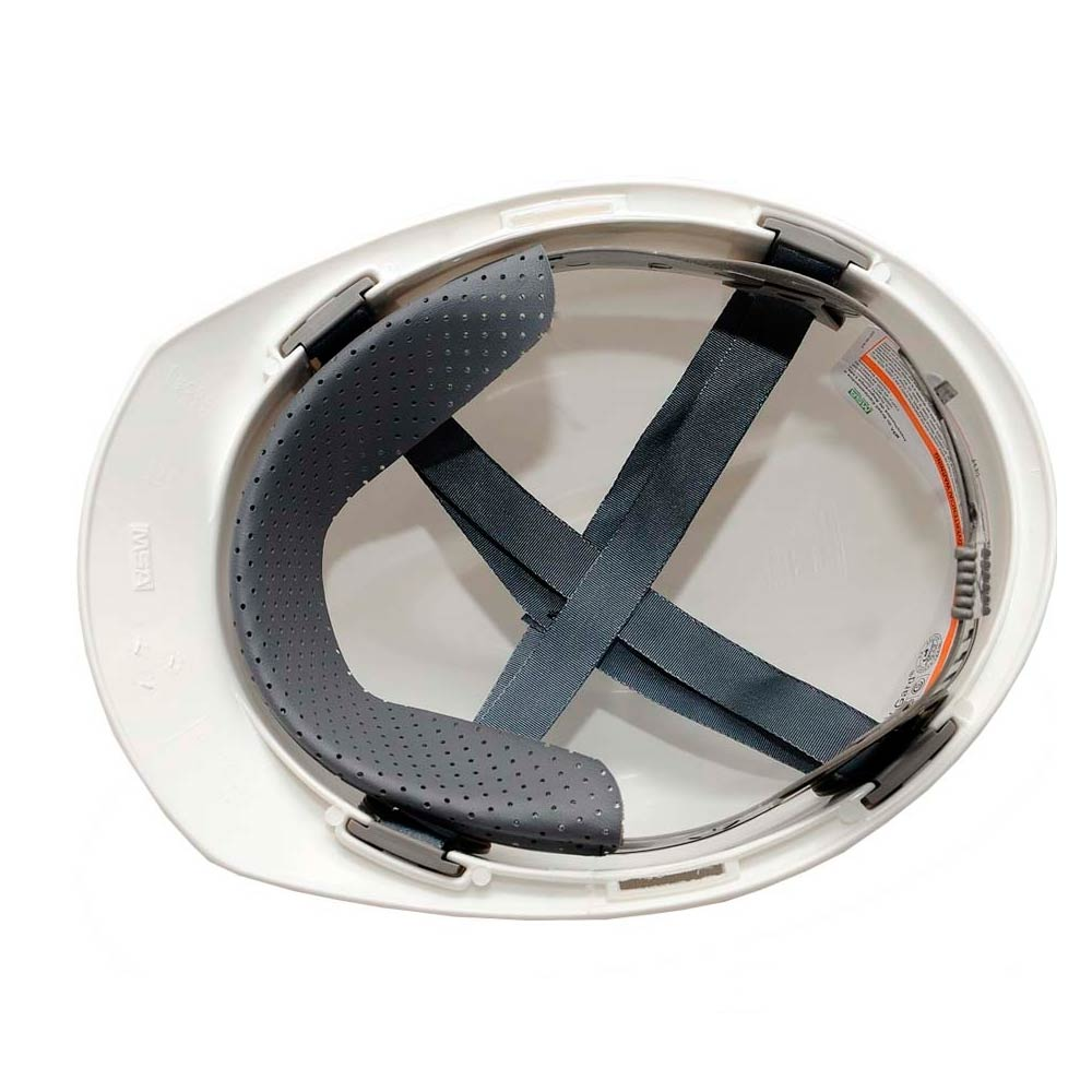 Capacete MSA V-GARD Aba Frontal c/ Suspensao Push Key e Jugular Amarelo CA 498